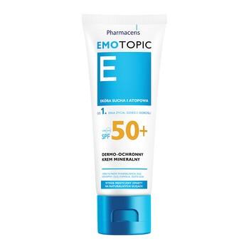 Pharmaceris E Emotopic, dermo-ochronny krem mineralny do twarzy i ciała, SPF 50+, 75 ml