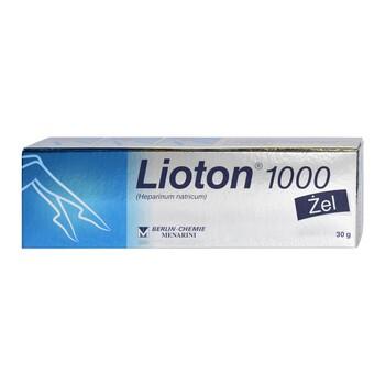 Lioton 1000, 8,5 mg/g (1000 j.m.)/g, żel, 30 g