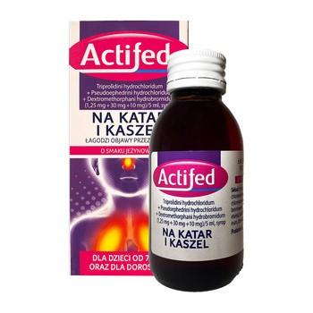 Actifed, (1,25 mg + 30 mg + 10 mg)/5ml, syrop, 100 ml