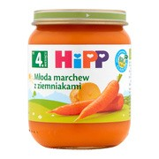 HiPP BIO, młoda marchew z ziemniakami, po 4. miesiącu, 125 g