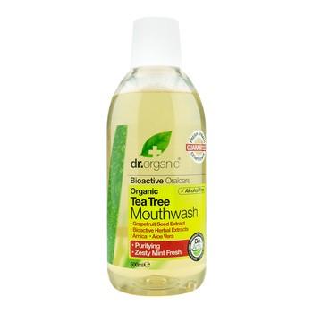 Dr. Organic Tea Tree, płyn do płukania ust z olejkiem z drzewa herbacianego, 500ml