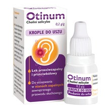 Otinum, 20% (200 mg/g), krople do uszu, 10 g