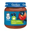 Gerber, krem z jabłek i czarnych jagód, 4 m+, 125 g