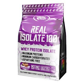 Real pharm Real isolate 100, smak milionaire cake, proszek, 700 g