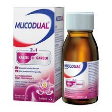 Mucodual, syrop 2w1 kaszel + gardło, 100 ml