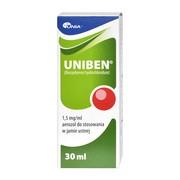 Uniben, 1,5 mg/ml, aerozol do stosowania w jamie ustnej, 30 ml