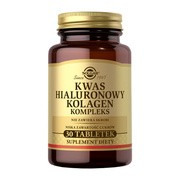 Solgar Kwas hialuronowy Kolagen Kompleks, 120 mg, tabletki, 30 szt.