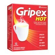 Gripex Hot, proszek do sporządzania roztworu doustnego, 12 saszetek