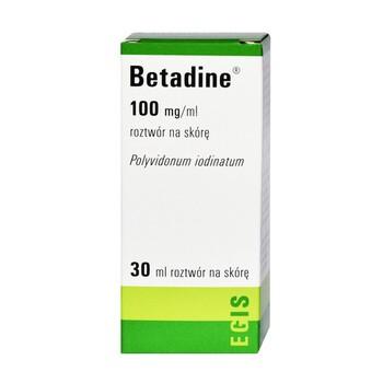 Betadine, 10%, roztwór na skórę, 30 ml